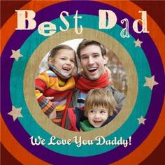 Target dad with this retro design Father's Day Photo Upload card from Moonpig.com.au Fathers Day Photo, Photo Upload, Retro Design, Best Dad, Birthday Cards, Daddy, Target, Card Making, Greeting Cards
