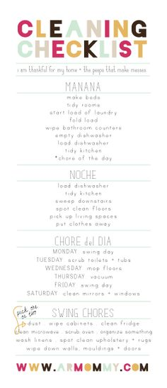 cleaning-schedule - Oh, LOVE this one!