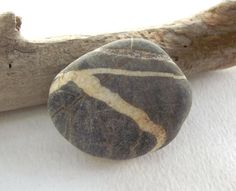SMOOTH Natural Stone pin brooch. Sea pebble jewelry by oceangifts