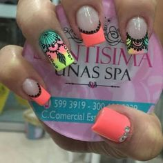 Uñas decoradas con atrapasueños Hot Nails, Hair And Nails, Gel Nail Art, Acrylic Nails, Nail Art Arabesque, Mandala Nails, Nails 2017, Nails Only, Stylish Nails