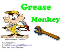 Grease Monkey SPECIALS:  On your vehicle service from NOW until end SEPTEMBER All prices include parts and labour. AUDI A3 and A4 - R1000 most models. BMW E46, 318 2001\05 - R1500 BMW E46, 320D 2001\2008 - R900 BMW E90, 320D 2005\2007 - R900 CITI GOLF MK1 2000\2007 -  R850 CORSA LITE 1.3 \1.4 - R830 GOLF 3, JETTA 3 - R850 TOYOTA TAZZ 1.3 2000\2006 -R700 TOYOTA YARIS - R840 HYUNDAI GETS 1.3 \1.4, 2003-2008 model - R850  Paul - 0737594462