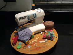 Sewing machine cake for my friend Libby's sister's 70th