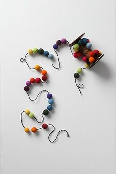 Felt ball garland {Anthropologie}