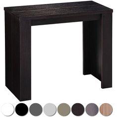 Table console extensible Brookline bois wenge ($453-349€).  Un design épuré et un style plus qu'élégant. Peut accueillir jusqu'à 10 personnes et se range en console en moins d'une minute. (existe aussi en noir, blanc, argent, taupe, chêne clair, vintage et gris). http://menzzo.fr/