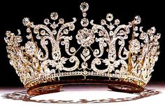 The Poltimore Tiara, made for Florence, Lady Poltimore in the 1870's and was purchased for Princess Margaret for her wedding to Antony Armstrong-Jones in 1960.