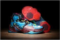 9b55fffe7fe9 Find 2016 NikeiD Lebron 13 Mens Basketball ShoesAsymmetryBlue Lagoon Red Purple Green  Sneakers Online Store 388693 online or in Lebronshoes.
