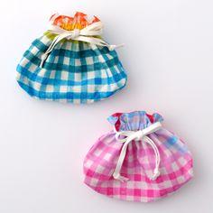 Painting Check bento bags - nani IRO sumau/  gift bags