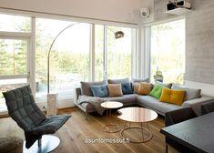 Lammi-Kivitalo Validus Motus - Asuntomessut Modern Cottage, Outdoor Furniture Sets, Outdoor Decor, Couch, Wonderful Things, Design, Home Decor, Ideas, Settee