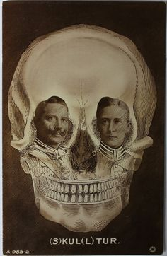 Old/Antique Skull Optical Illusion Postcard    No postmark - Circa 1910s