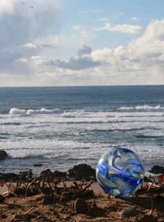 glass floats are a big thing in Lincoln City, Oregon, next float drop in April