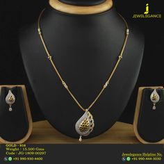 Gold 916 Premium Design Get in touch with us on Gold Necklace Simple, Gold Jewelry Simple, Gold Chain Design, Gold Jewellery Design, Gold Pendent, Gold Set, Necklace Designs, Pendant Jewelry, Indian Bangles
