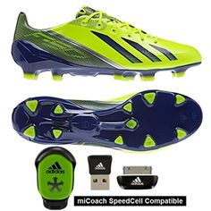 Electric speed in the Adidas F50 adiZERO in Electricity. No boot is lighter, no boot is faster. Pick up yours today at soccercorner.com