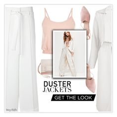 """""""Trending: Duster Jackets (I'm loving it!)"""" by mcheffer ❤ liked on Polyvore featuring Gloria Coelho, Boohoo, Summit, Tevolio, Missguided, widelegpants, DusterCoat and dusterjacket"""