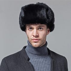 c50f7eca76e natural black real rabbit fur hat men winter fur cap genuine women s Bomber  Hats Russia style warm snow headwear with ear flaps now available on  Affordable ...