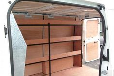 A look at some van storage solutions, including van shelving and roof bars, to make your vehicle better suited to your needs Van Storage, Truck Storage, Tool Storage, Storage Ideas, Shelving Ideas, Storage Shelves, Trailer Shelving, Van Shelving, Van Organisation