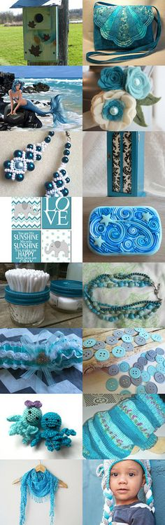 Turquoise, turquoise!! by Eva M Hermida on Etsy--Pinned with TreasuryPin.com