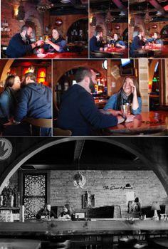 Engagement Photos in a bar, Ravari Room, Columbus OH