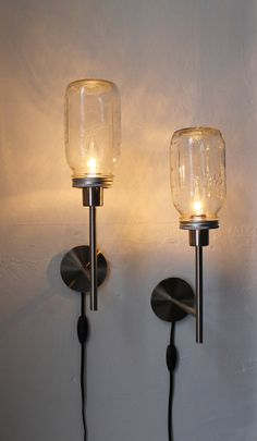 Upcycled Mason Jar Lights. Via Boots N Gus, http://www.etsy.com/shop/BootsNGus?ref=seller_info