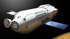 """Wanted - MCT Concept Designers/Artists. One of a few """"fan-based"""" Mars Colonization Transport (MCT) design concepts. Likely to be built in LEO, MCT will not require aerodynamics except for perhaps an aerobraking shell. The design may be dominated by massive spherical fuel tanks and inflatable modules house 100 Mars colonists. (Credit: Reddit)"""