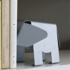 Hannibal Elephant Silver Metal Bookend by Design Ideas