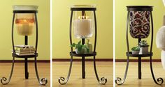 One Rustic Scroll Floor Stand, three great looks. : Shop online at www.PartyLite.biz/NikkiHendrix