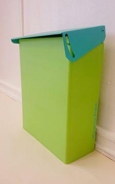 Postkasse i grønn og blå hjertehjort.no
