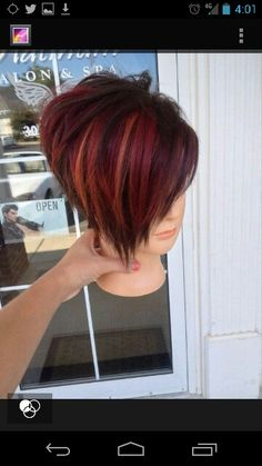 This and the other style mixed together.  Going with the coppery hair color too!!