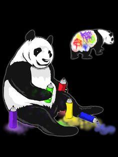 Panda BIGrowfers Panda doing graffiti