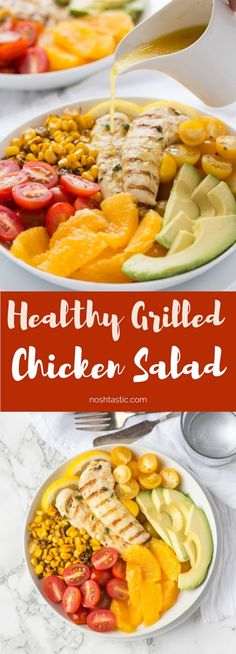 This Whole30 Chicken Salad With Orange Vinaigrette is a winning combination of fresh flavors and a citrus dressing you'll love! | Paleo and Gluten free |