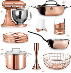 Auf unserer Wunschliste: Kupfer Küchenschätze