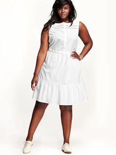 Women's Plus Textured-Dot Sleeveless Dresses