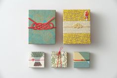 Chie Nagaura turns ancient mizuhiki mastery into modern art. Japanese Packaging, Tea Packaging, Pretty Packaging, Food Packaging Design, Product Packaging, Japanese Wrapping, Frugal Christmas, Red Packet, Japanese Graphic Design
