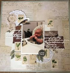 Scrapbook Journal, Scrapbook Pages, Smash Book Pages, Page Layout, Scrapbooking Layouts, Art Journaling, Cardmaking, Kids Rugs, Baby