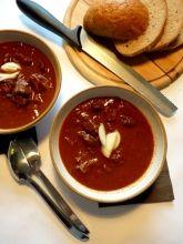 Kančí guláš Feta, Chili, Soup, Chile, Chilis, Soups, Chowder
