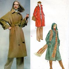 Vogue 1559 Christian Dior 1970s Misses Lined Coat Patternwith Detachable Hood womens vintage sewing pattern  | PatternGate - Craft Supplies on ArtFire