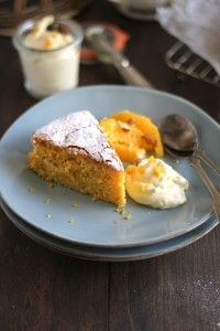 Gluten Free Almond Orange Cake with Orange Scented Mascarpone Cream Sweet Recipes, Whole Food Recipes, Dessert Recipes, Cooking Recipes, Gluten Free Sweets, Gluten Free Recipes, Orange And Almond Cake, Almond Cakes, The Fresh
