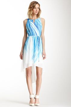Sandra Darren Hi-Lo Abstract Print Dress on HauteLook