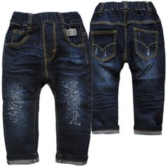 3976 0-4 years harem pants elastic waist little loose kids baby boy jeans pants boys trousers spring autumn soft denim children