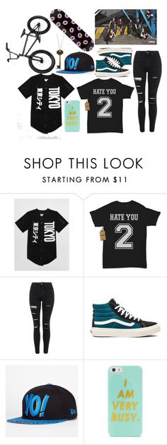 """""""Going to watch monsta x film rush"""" by deaththeghoul ❤ liked on Polyvore featuring moda, Topshop, Vans, New Era, BaubleBar, ODD FUTURE, women's clothing, women, female i woman"""