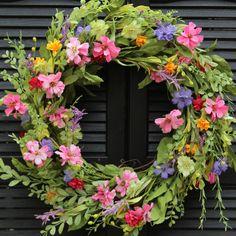 Large Floral Door Wreath - Flower Wreath - Spring Summer Door Decor by EverBloomingOriginal $65.00 USD