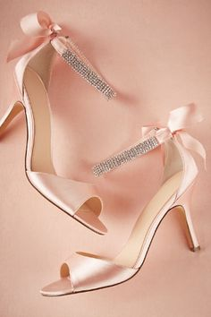 Pink and crystal wedding shoes from BHLDN
