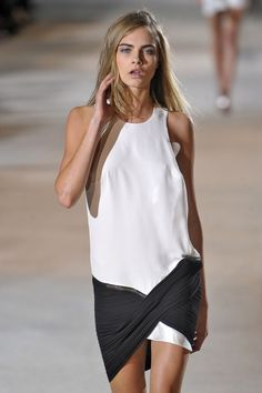 Ready to wear Spring Summer 2013 Anthony Vaccarello , Model Cara Delevigne