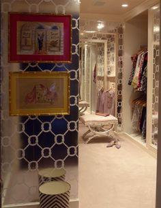 closet inspiration- AMAZING Jonathan Adler wallpaper!