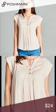 Everly Top! Ivory! 100% Rayon! Meet Everly! This top is great for layering with this unpredictable weather! Perfect for work to weekend and any occassion! Tops