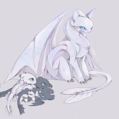 Still this artwork takes a lot of tiiime but I already love it ~ Angel Lightfury and Baby's (and Toothless) (btw inspired by… Httyd Dragons, Cool Dragons, Dreamworks Dragons, Dragon Rider, Dragon 2, Disney Drawings, Cute Drawings, Princesse Disney Swag, Night Fury Dragon