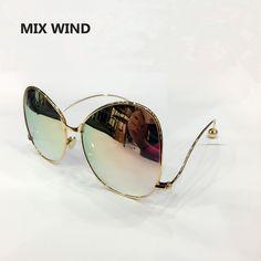 mix wind 2016 new oversized sunglasses pachinko sunglasses and optical frames women sunglasses fashion big metal elegant female