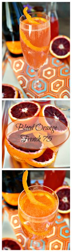 blood orange french 75 blood orange french 75 is a great celebratory ...