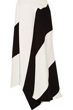 Victoria Beckham  Asymmetric wrap-effect crepe skirt