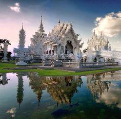 Wat Rong Khun in Chiang Rai, Changwat Chiang Rai