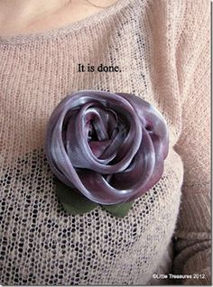 Organza rose